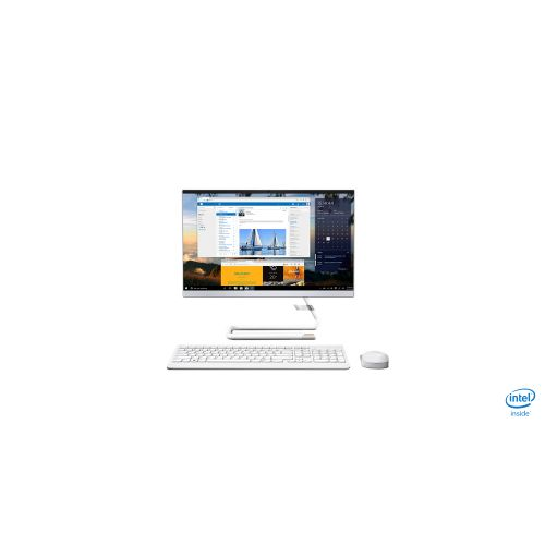 """Lenovo All in One Desktop A340 22IWL , Intel 10th Gen Core i3-10110U (  8GB DDR4 ,  1 TB HDD  ,  Integrated Graphics  ,  21.5 """"FHD IPS , White Color ,  1 Year Onsite )  , F0EB00CRIN"""